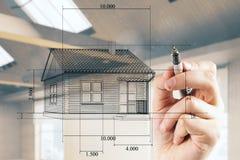 Arquitecto y concepto de la ingeniería Foto de archivo libre de regalías