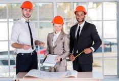 Arquitectos alegres Foto de archivo