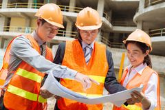 Arquitectos e inversor Foto de archivo libre de regalías