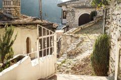 Arquitectura única de Berat Foto de archivo libre de regalías