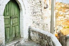 Arquitectura única de Berat Imagen de archivo