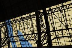 Arquitectura abstracta geométrica dentro Fotografía de archivo