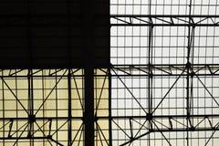 Arquitectura abstracta geométrica dentro Fotos de archivo