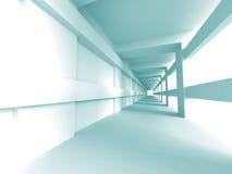 Arquitectura abstracta Hall Interior Background vacío Fotos de archivo