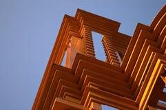 Arquitectura anaranjada Imagen de archivo