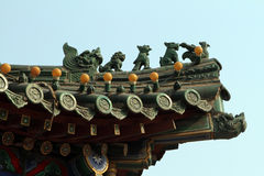 Arquitectura antigua china Fotos de archivo libres de regalías