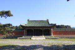 Arquitectura antigua china en las tumbas reales del este del Q Imagenes de archivo