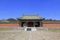 Arquitectura antigua china en las tumbas reales del este del Q Foto de archivo libre de regalías