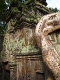 Arquitectura antigua de Camboya, templo de Bayon Foto de archivo libre de regalías
