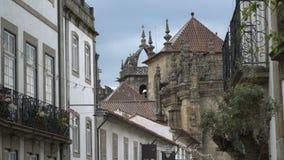 Arquitectura antigua y castillo de Braga, Portugal metrajes