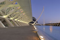 Arquitectura CAC. Panorama with several buildings in the city of arts and sciences Stock Image