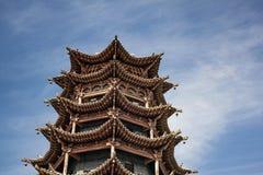 Arquitectura china tradicional de la pagoda de MU TA Si imagen de archivo