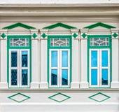 Arquitectura Chino-portuguesa de muchos los edificios en la ciudad de Phuket Fotografía de archivo libre de regalías
