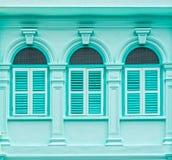 Arquitectura Chino-portuguesa de muchos los edificios en la ciudad de Phuket Imagenes de archivo
