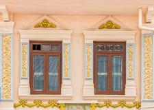 Arquitectura Chino-portuguesa de muchos los edificios en la ciudad de Phuket Fotos de archivo libres de regalías