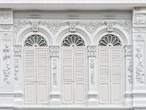 Arquitectura Chino-portuguesa de muchos los edificios en la ciudad de Phuket Fotografía de archivo