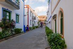 Arquitectura colonial de Puerto de Mogan Fotografía de archivo libre de regalías
