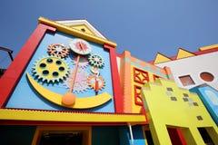 Arquitectura colorida de las casas Fotos de archivo