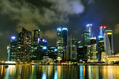 Arquitectura da cidade 1 de Singapore Foto de Stock Royalty Free