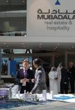Arquitectura da cidade 2010 de Abu Dhabi imagem de stock
