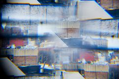 Arquitectura da cidade abstrata Fotos de Stock Royalty Free