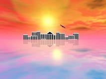 Arquitectura da cidade apocalíptico ilustração stock