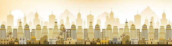 Arquitectura da cidade Arábia (cenário da manhã) Fotografia de Stock Royalty Free