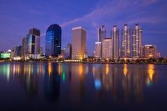 Arquitectura da cidade, Banguecoque Tailândia Fotografia de Stock