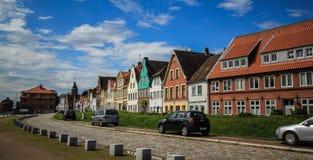 Arquitectura da cidade colorida Fotografia de Stock Royalty Free