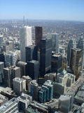 Arquitectura da cidade da baixa do ângulo elevado de Toronto Fotografia de Stock Royalty Free