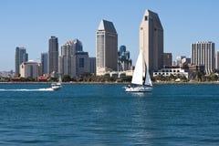 Arquitetura da cidade da cidade do centro de San Diego, EUA Imagem de Stock