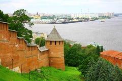 Arquitectura da cidade da manhã de Nizhny Novgorod Foto de Stock Royalty Free