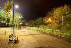 Arquitectura da cidade da noite Fotos de Stock Royalty Free