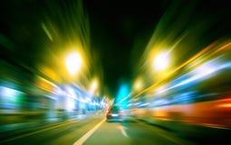 Arquitectura da cidade da noite Imagens de Stock Royalty Free