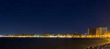 Arquitectura da cidade da noite Imagens de Stock