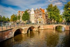 Arquitectura da cidade de Amsterdão fotografia de stock royalty free