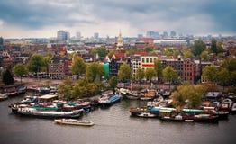 Arquitectura da cidade de Amsterdão. Países Baixos Fotografia de Stock Royalty Free