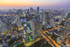 Arquitectura da cidade de Banguecoque Fotografia de Stock Royalty Free