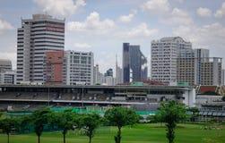 Arquitectura da cidade de Banguecoque, Tailândia Imagens de Stock Royalty Free