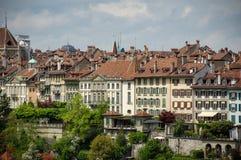 Arquitectura da cidade de Berna Imagens de Stock Royalty Free
