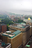 Arquitectura da cidade de Boston na névoa Fotografia de Stock