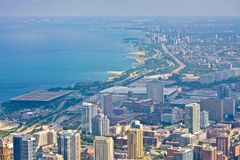 Arquitectura da cidade de Chicago, Estados Unidos Imagens de Stock