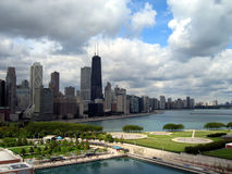 Arquitectura da cidade de Chicago, vista de N Fotos de Stock
