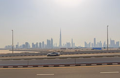 Arquitectura da cidade de Dubai Foto de Stock Royalty Free