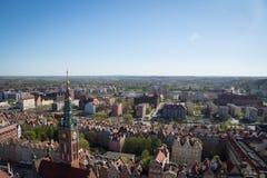 Arquitectura da cidade de Gdansk, Polônia imagens de stock