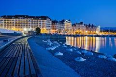 Arquitectura da cidade de Genebra Imagem de Stock Royalty Free