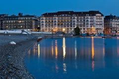 Arquitectura da cidade de Genebra Imagens de Stock