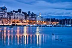Arquitectura da cidade de Genebra Fotografia de Stock Royalty Free