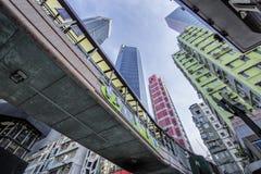 Arquitectura da cidade de Hong Kong Fotografia de Stock