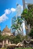 Arquitectura da cidade de Hong Kong Fotos de Stock Royalty Free